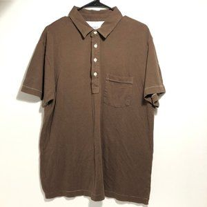 Old Navy Mens -Brown Vintage Polo-Short Sleeve- XL